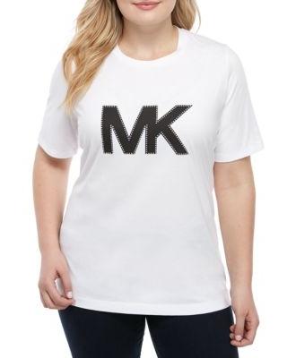MICHAEL Michael Kors MICHAEL Michael Kors White Plus Size MK Logo T Shirt  from Belk.
