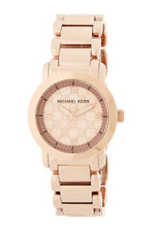 Watch watch Michael Rose gold tone stainless steel watch logo michael kors  mk3159 womens runway rose gold tone mk logo stainless steel watch.