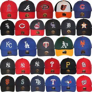 Details about 47 Brand MLB Logo Team Colors MVP Strapback Adjustable  Baseball Dad Hat Cap NWT.