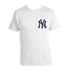 Details about New York Yankees Shirt Men MLB Baseball White NY logo T.
