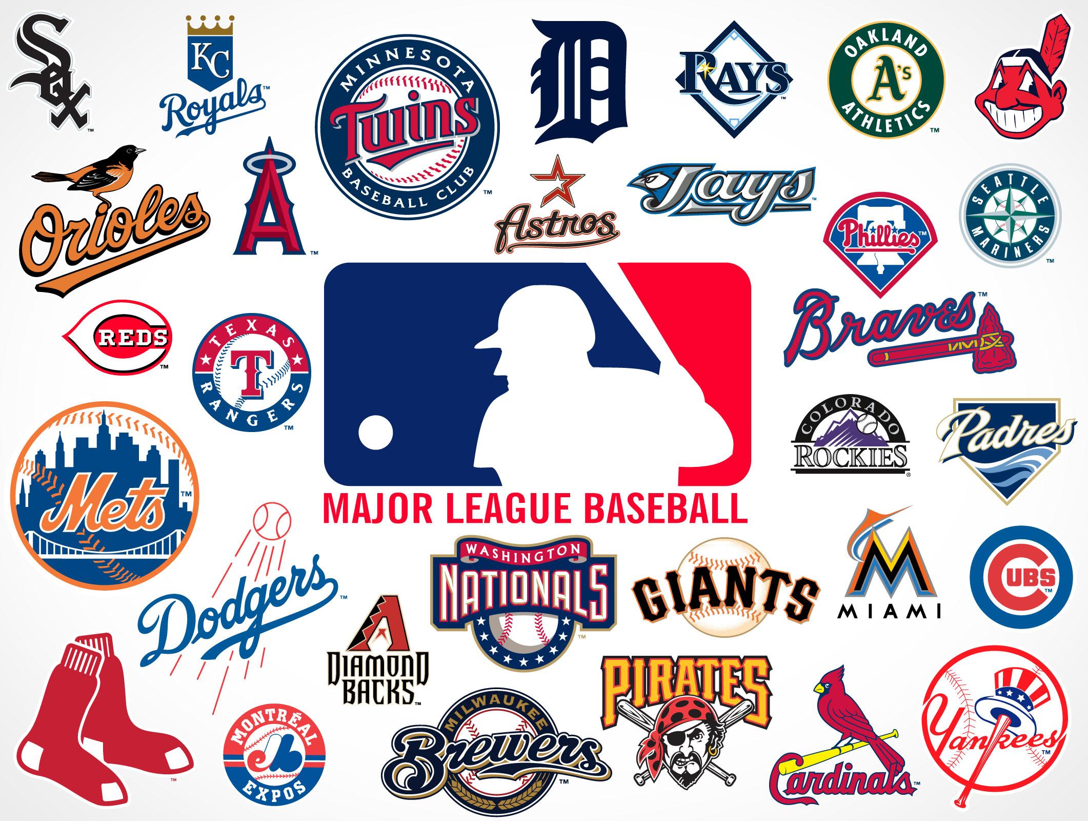 Major League Baseball Team Logos • Market Your PSD Mockups.