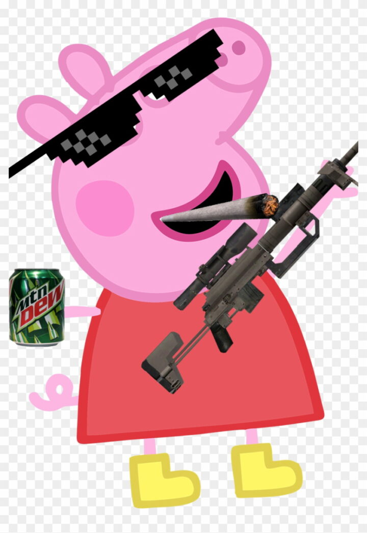 Weed Clipart Mlg Peppa Pig Blowing Bubbles Image Provided.