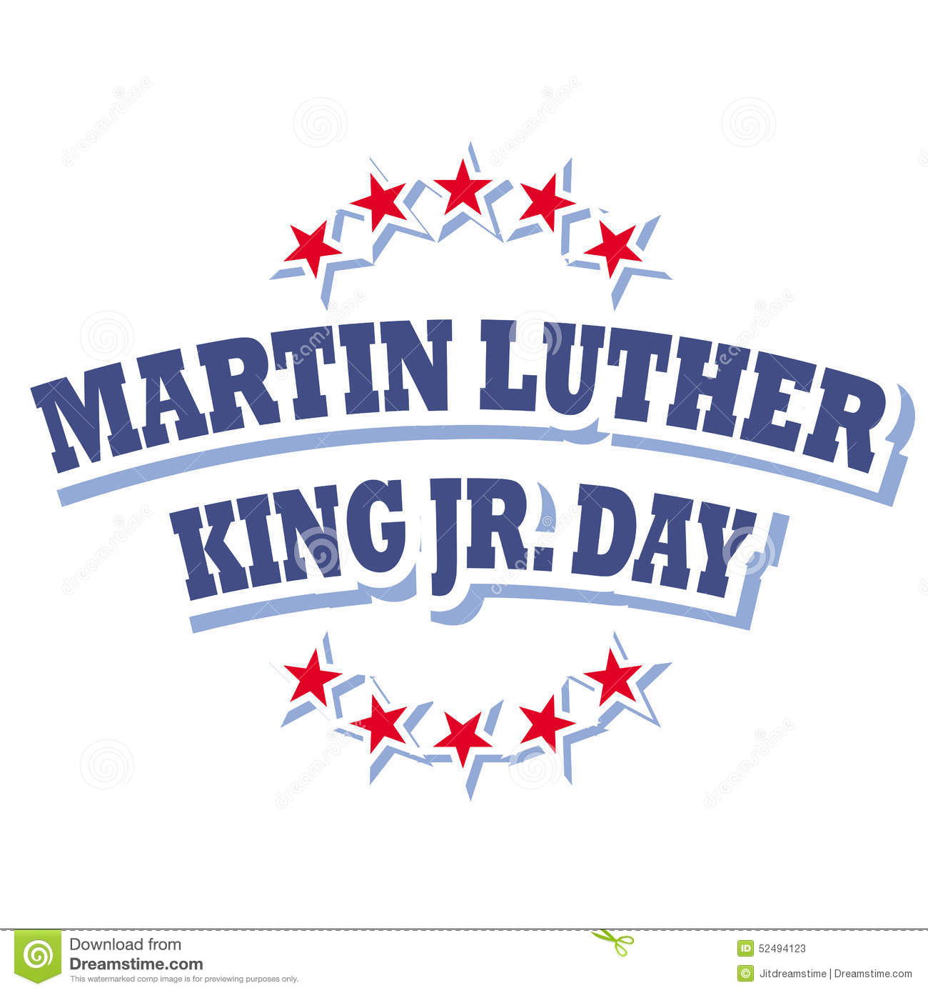 Martin Luther King Day 2018 Free Clipart.