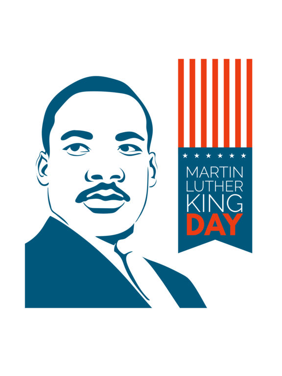 Martin Luther King Day Clipart.
