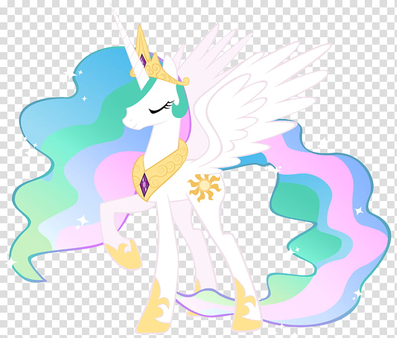 Princess Celestia of Equestria, white My Little Pony unicorn.
