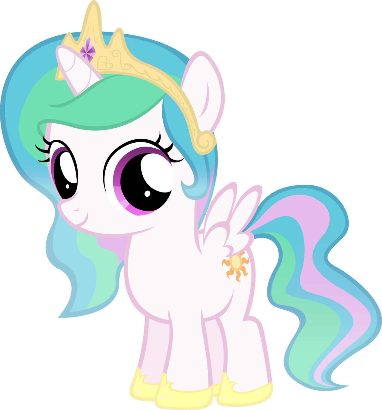 Celestia+Filly+by+MoongazePonies.deviantart.com+on+@deviantART.