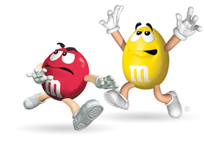 M & M Characters Clipart.