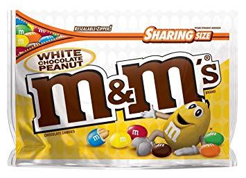 M&M's White Chocolate Peanut Candies.