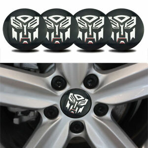 Details about 4x 56.5mm Transformers Autobot Car Alloy Wheel Center Hub  Caps Emblem Sticker.