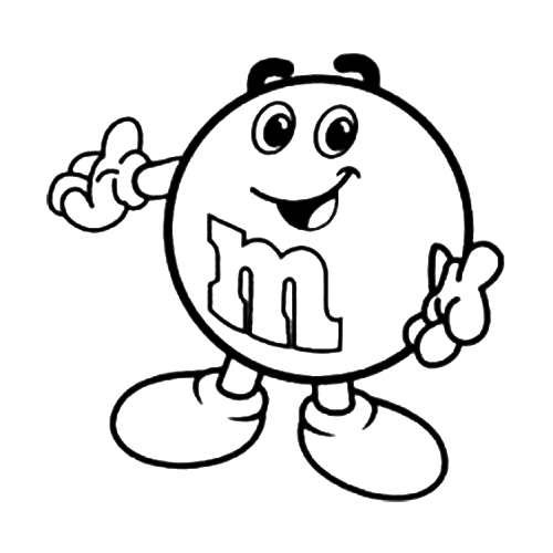 M&m Clipart Black And White.