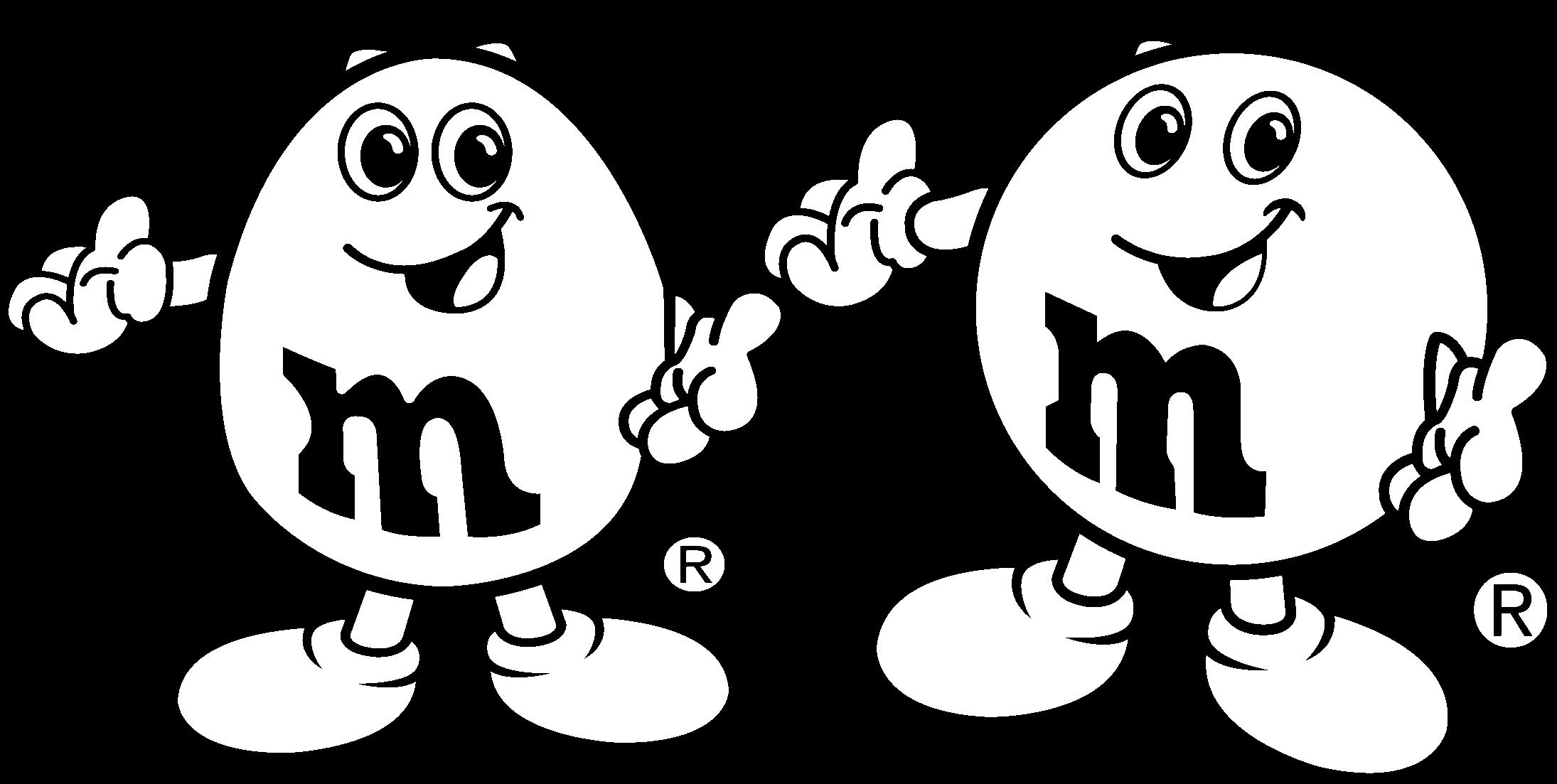 M&m's Logo Black And White.
