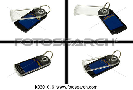 Stock Images of SD MMC Keychain k0301016.