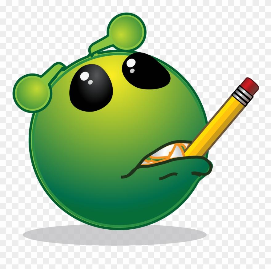 Smiley Green Alien Mmm Clipart (#852435).