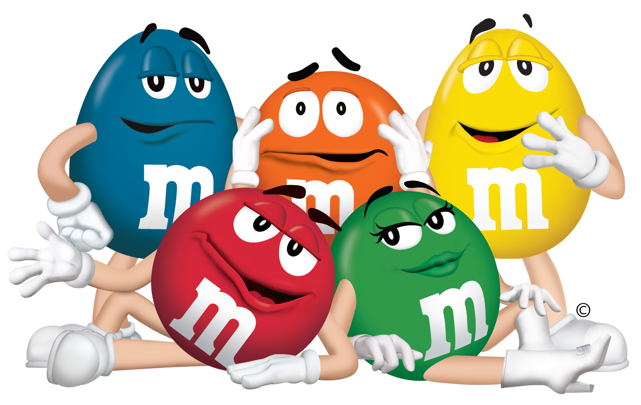 M M Candy Characters Clipart.