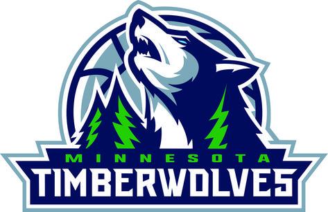 Color Timberwolves Logo.