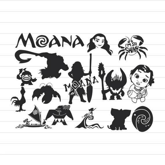 Moana clipart black and white 1 » Clipart Portal.