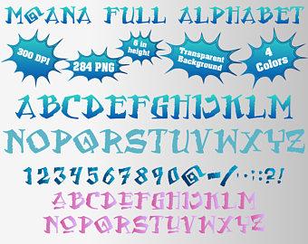 Moana font.