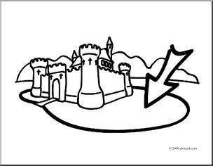 Castle Mote Coloring Page