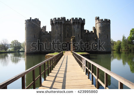 Castle Moat Stock Images, Royalty.