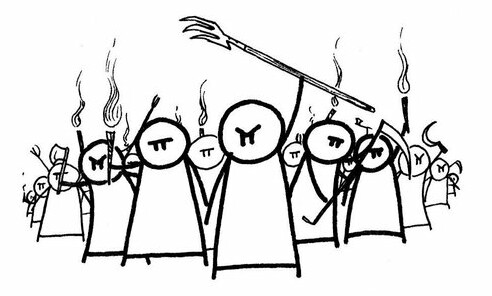 Angry mob cartoon clipart.