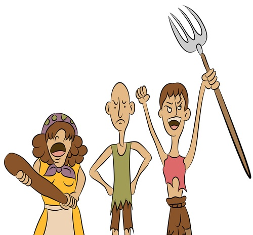 Clip Art Angry Mob Clipart.