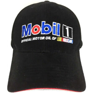 Details about Mobil 1 Hat Racing Cap Pegasus Logo Baseball Nascar Strap  Back Adjustable Black.