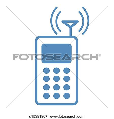 Clip Art of antenna, icons, Cell phone, Mobile Phone, Electronics.