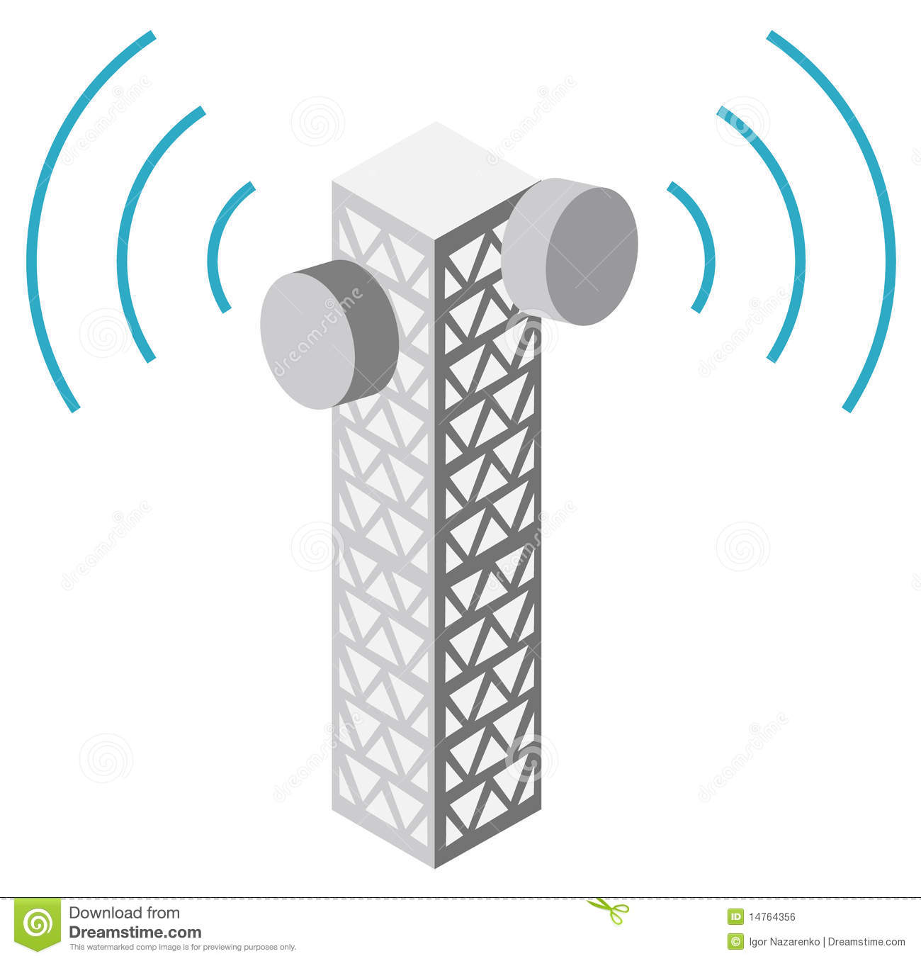Illustration Of Antenna Tower Royalty Free Stock Image.
