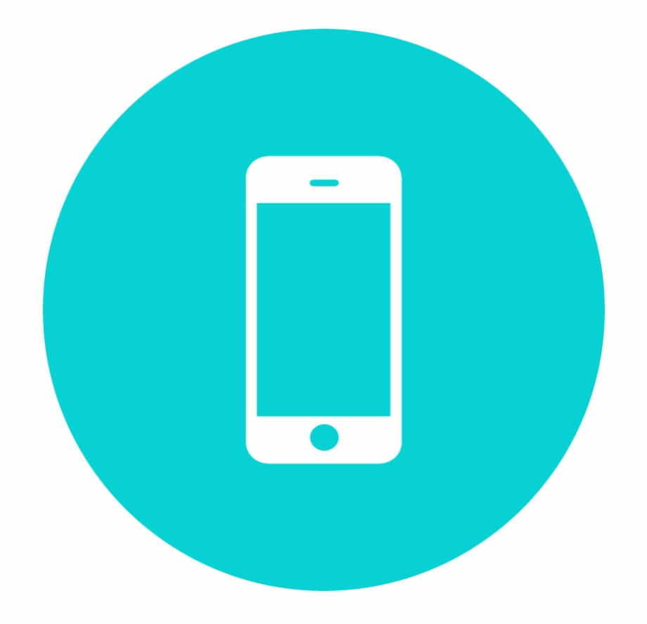Phone Icons Teal.