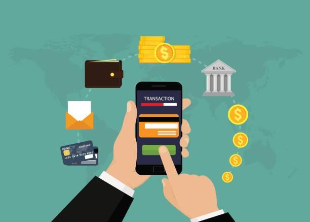 Best Mobile Banking Illustrations, Royalty.