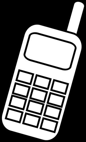 17068 mobile phone clip art black white.