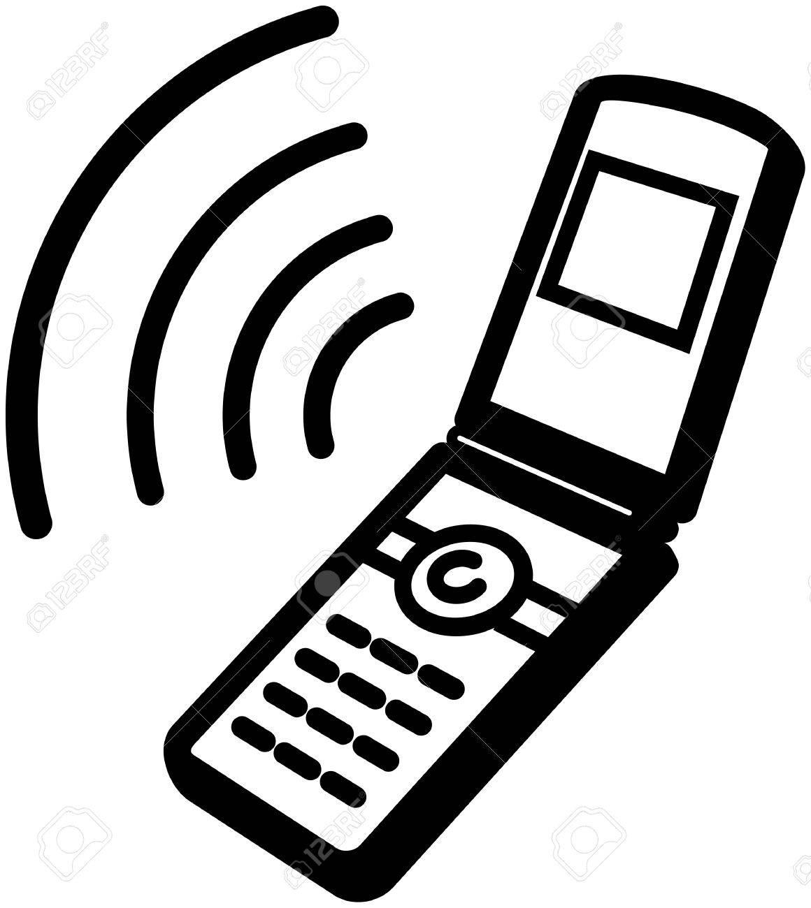 Ringing mobile phone icon.