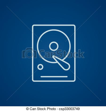 EPS Vector of Hard disk line icon..