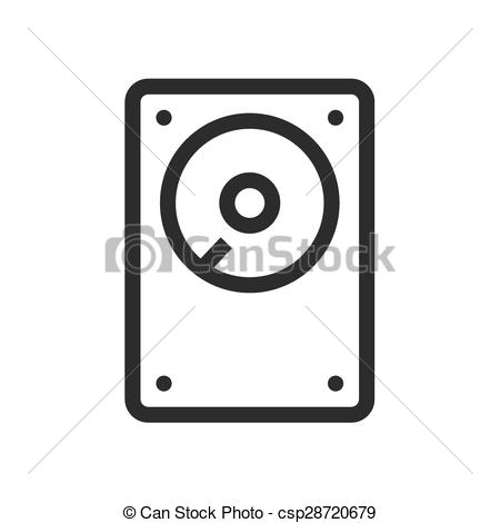 Vectors Illustration of Hard Disk.