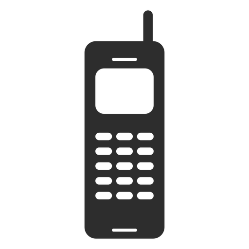 Mobile phone with antenna icon.
