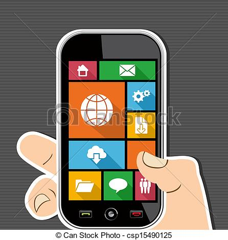 Vector Illustration of Colorful Web mobile UI apps user interface.