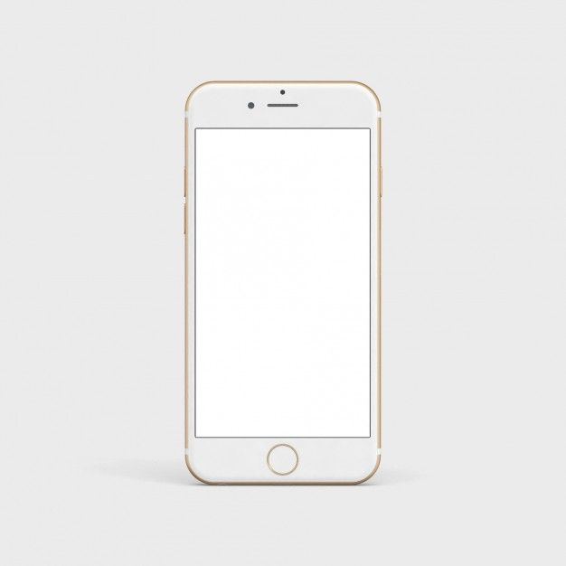 White mobile phone mock up Free Psd in 2019.