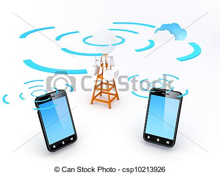 Mobile Networking Clipart.
