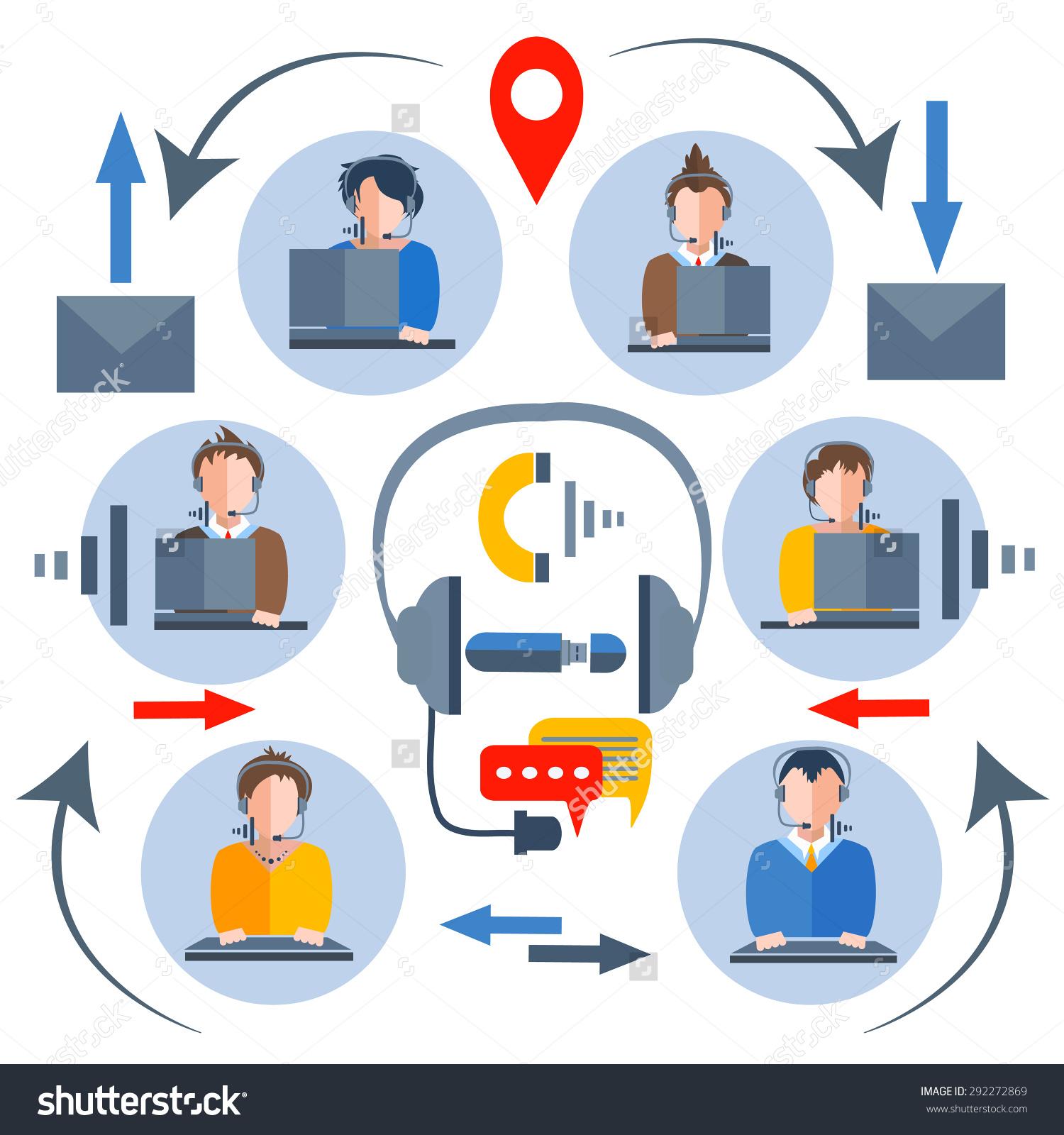 Mobile operators clipart #8