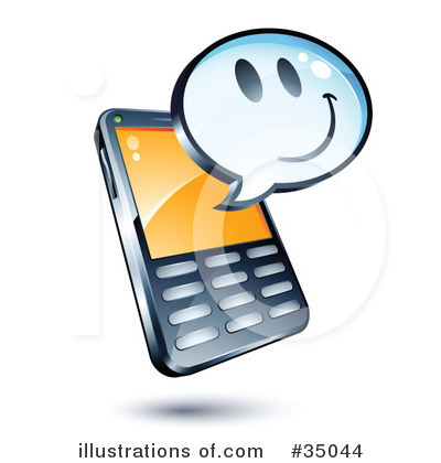 Cell Phone Clipart #35044.
