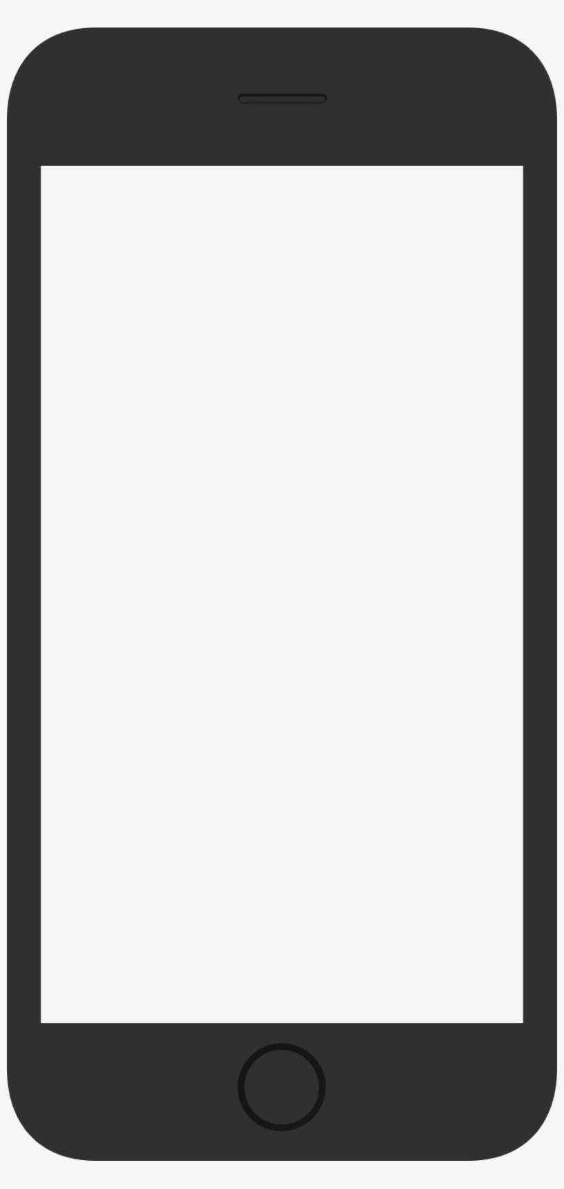 Transparent Template Mobile Phone.