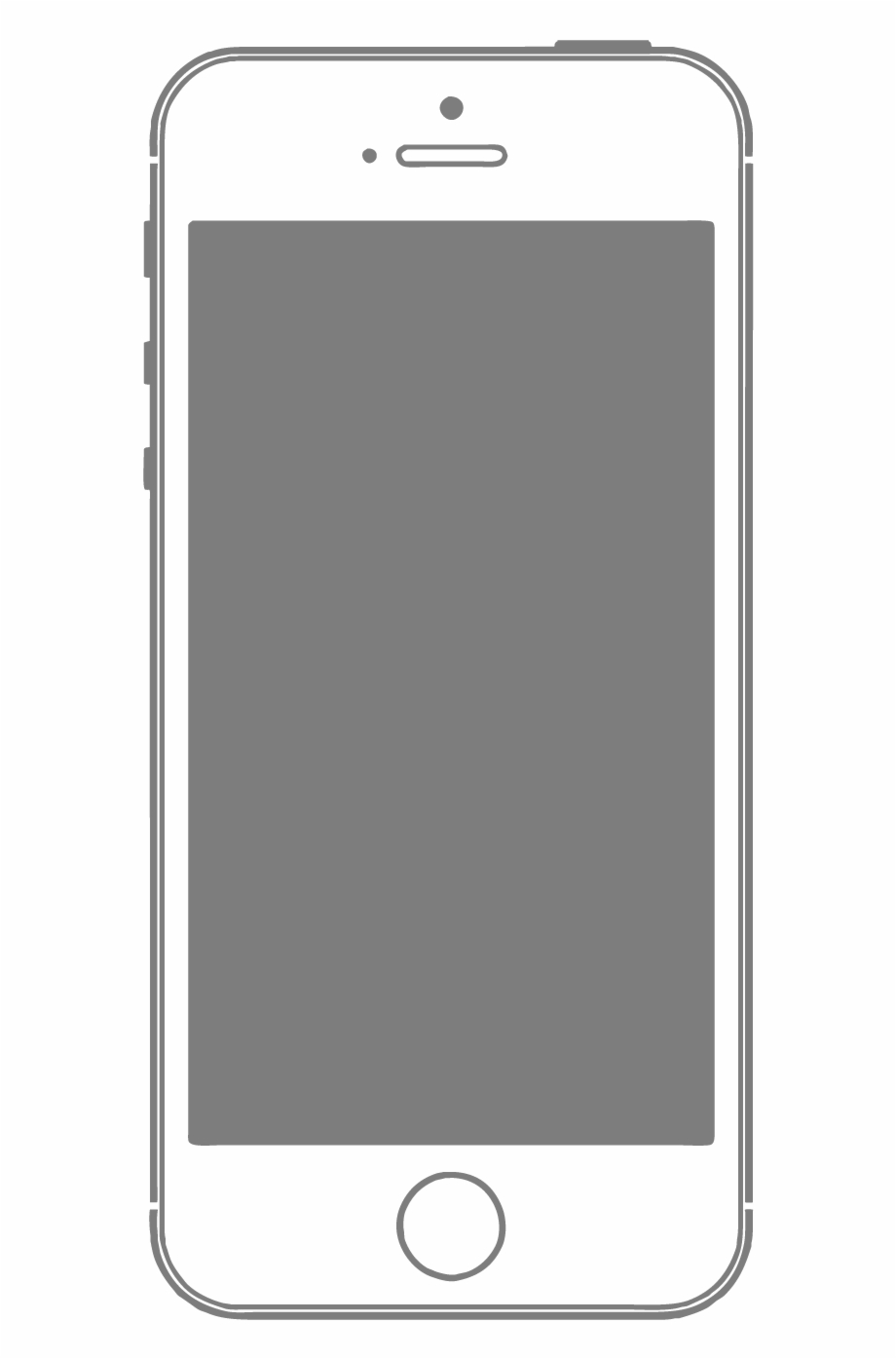 Phone Frame Png Vector Graphics.