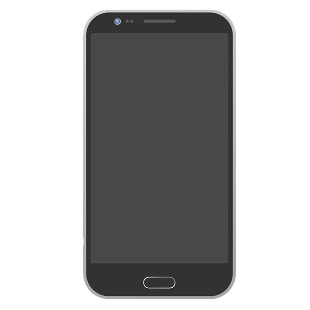Android Phone PNG with Transparent Background.