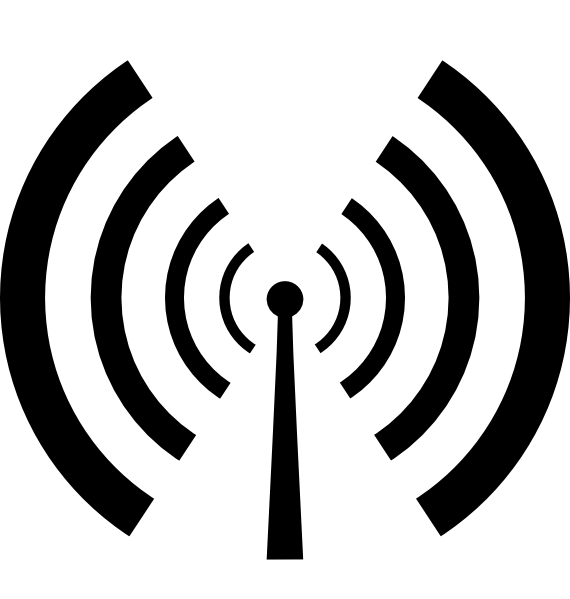 Antenna And Radio Waves clip art Free Vector / 4Vector.