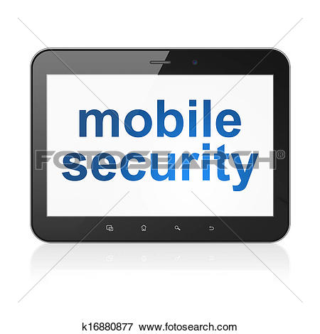 Stock Illustration of Safety concept: Mobile Security on tablet pc.