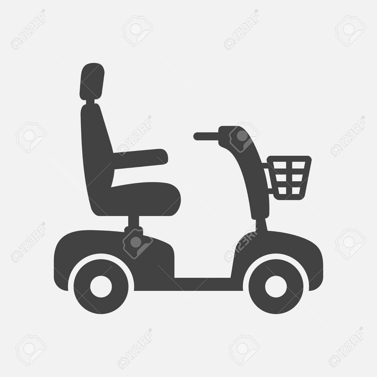 Mobility scooter icon.