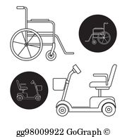 Mobility Scooter Clip Art.