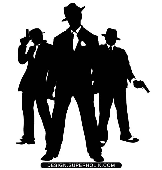 Mobster Clipart.