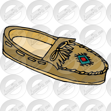 Moccasin Picture for Classroom / Therapy Use.