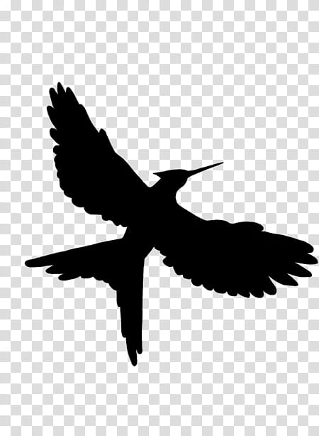 Mockingbird Silhouette, Mockingjay, Katniss Everdeen, Hunger.